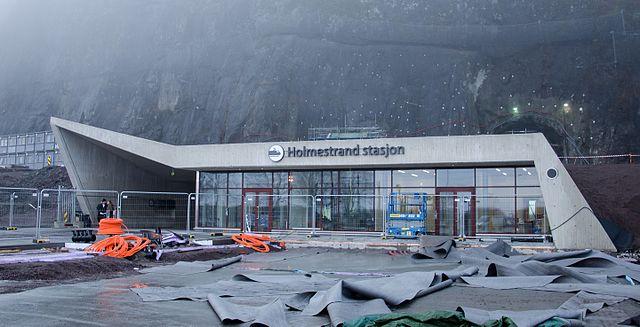 Holmestrand stasjon fasade. Foto: Peter Fiskerstrand