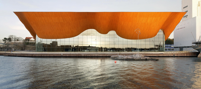 Kilden Teater og Konserthus, fasade