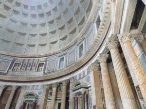 Betong brukt i Pantheon i Roma