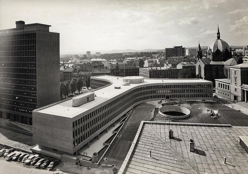 Y-blokka i 1969. Foto: Teigens Fotoatelier